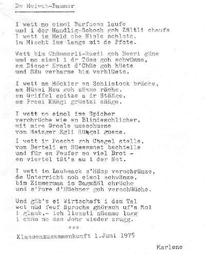 Sternenbergerlied: Hansels Klage von Jakob Stutz