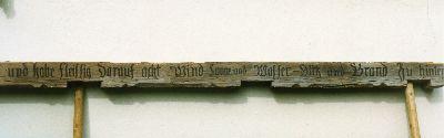 Schwendi, Inschrift