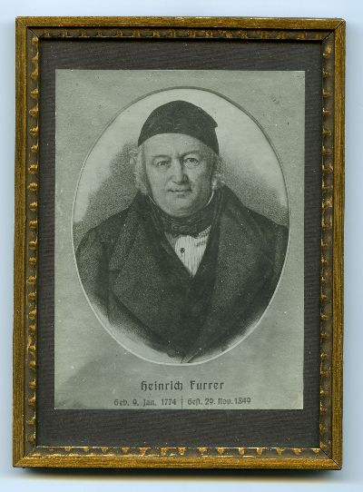 Heinrich Furrer, 9. Jan. 1774 - 29. Nov. 1849