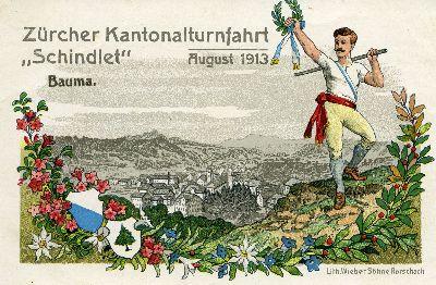 Extrakarte zum Turnfest 1913
