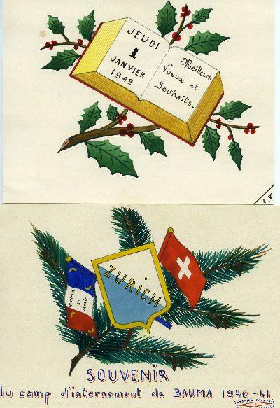 Souvenir dinternement de Bauma 1940 - 1941