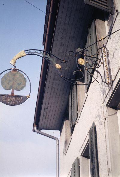 Wirtshausschild Lindenhof