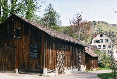Schuppen Spinnerei mit Mühle