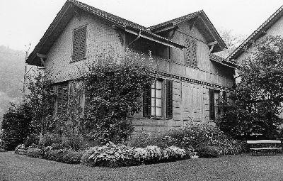 Schopf der Fabrikantenvilla Spörri - Wirth