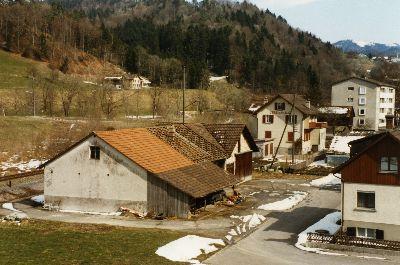Werkhof der Gemeinde, Unterdorf, neben Vereinshaus des Brüdervereins