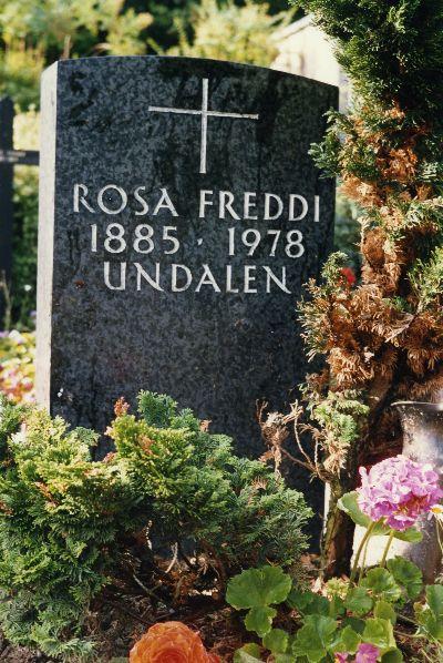 Undalen, Grab Rosa Freddi
