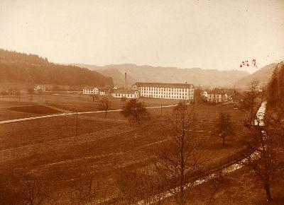 Weberei Grünthal mit Fabrikkanal