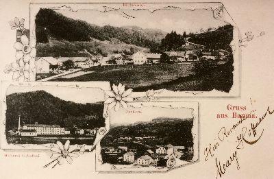 Gruss aus Bauma: Blitterswil, Juckern, Weberei Grünthal