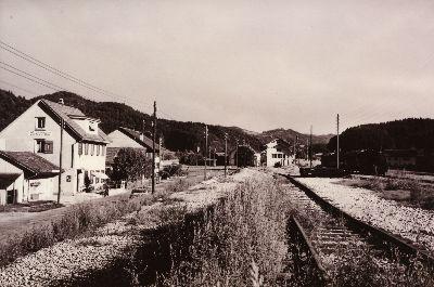 Bahnhof Saland und Wirtschaft zum Sonnenhof