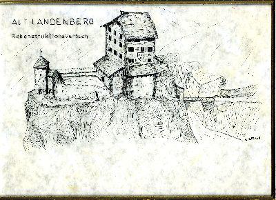 Bauma: Rekonstruktionsversuch des Schlosses Altlandenberg