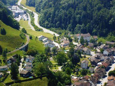 Bauma: Luftaufnahme Giesserei, Mühliboden, Böl