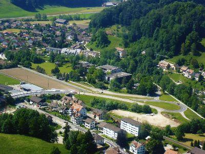 Bauma: Luftaufnahme Unterdorf, Altlandenberg