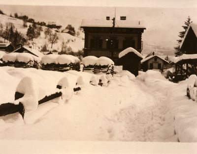 Bauma, Bahnhof, Schneewinter 1929