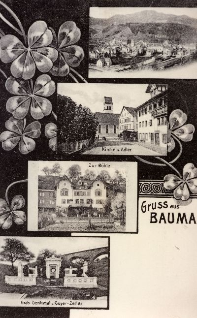 Bauma, Kirche, Adler, Mühle, Guyer-Zeller