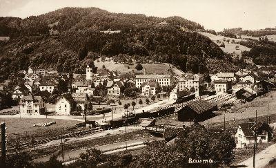 Bauma: Bahnhof, kath. Kirche, Höhlibrücke