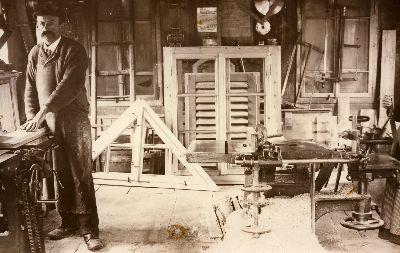 Werkstatt von Glaser Lattmann, Unterdorf, Bauma
