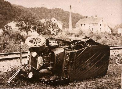 Auto Unfall bei Juckern