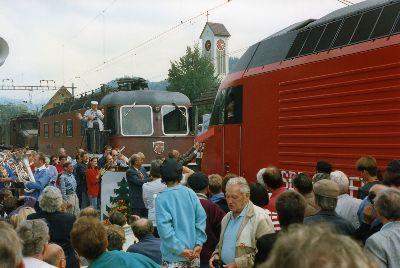 Dampfbahnfest mit Lok-Taufe: Bahnhof Bauma