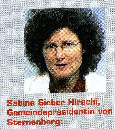 Sabine Sieber, Gemeindepräsidentin Sternenberg