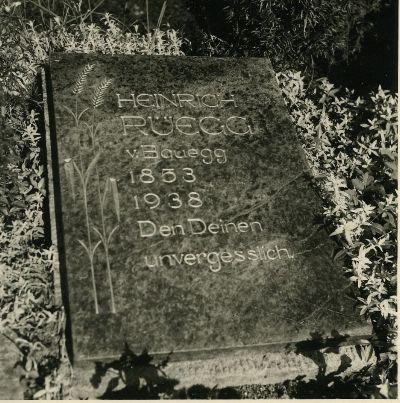 Grabstein von Geissenvater Heinrich Rüegg