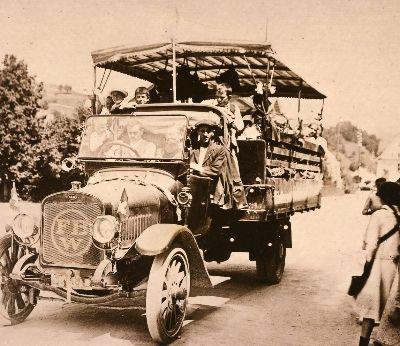 Ausflug mit Lastwagen