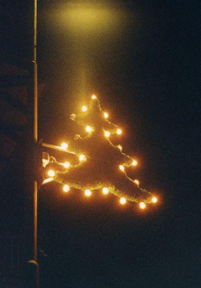 Weihnachtsbeleuchtung in Bauma