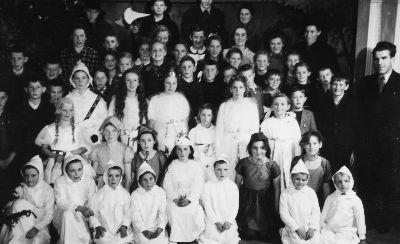 Schule Blitterswil mit Lehrer Max Spörri: Schulweihnacht 1942