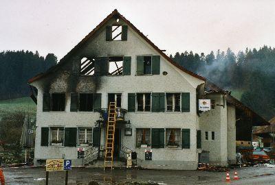 Feuerwehr Bauma: Brand Restaurant Dillhaus