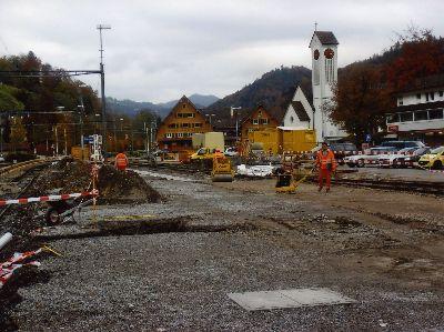Umbau der Geleiseanlagen beim Bahnhof Bauma