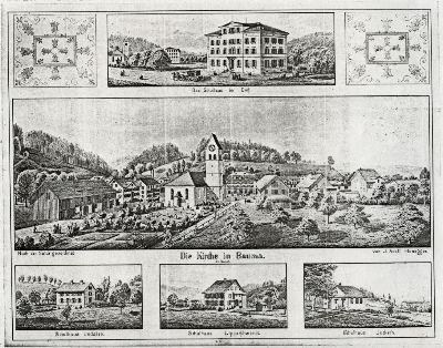 Bauma: reformierte Kirche, Schulhäuser Dorf, Undalen, Lipperschwendi, Juckern