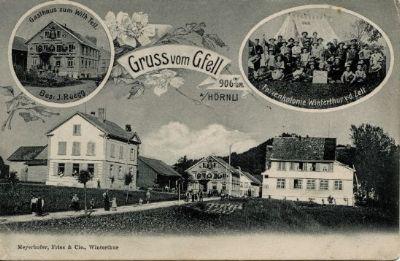 Gfell, Sternenberg, Gasthaus Wilhelm Tell, Ferienkolonie Winterthur