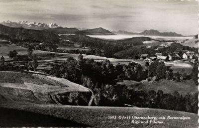 Gfell, Sternenberg mit Berner Alpen, Rigi und Pilatus