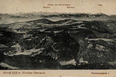 Panoramakarte Hörnli