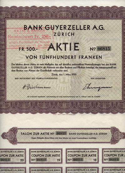 Bank Guyerzeller AG Zürich