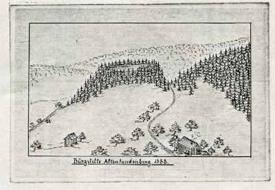 Burgstelle Altlandenberg 1883