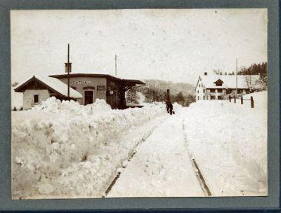 Station Neuthal im Schnee