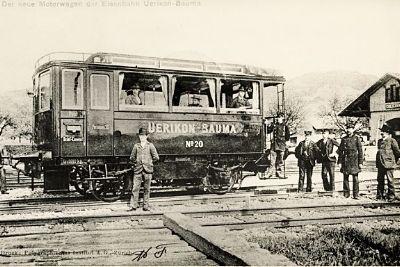 Der neue Motorwagen der ÜBB 1905