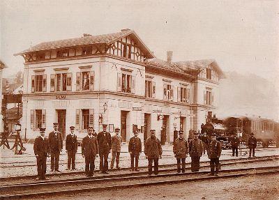 Haustafel: Bahnhof Bauma