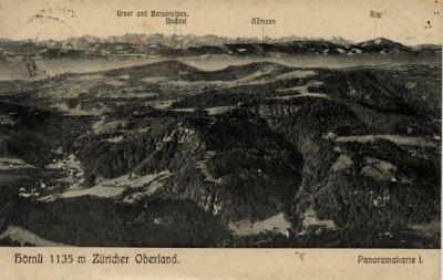 Hörnli Zürcher Oberland, Panoramakarte