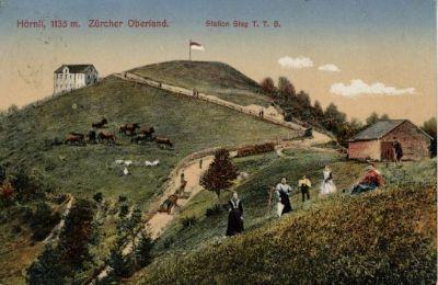 Hörnli, 1135m ü. M.:  Station Steg T.T.B. Zürcher Oberland