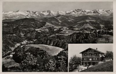 Berggasthaus Hörnlikulm, die Rigi des Zürcher Oberlandes
