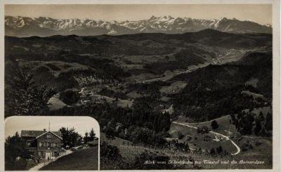 Berggasthaus Hörnlikulm ins Tösstal und die Berner Alpen