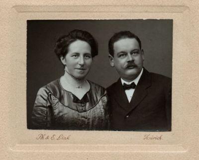 Seline und Adolf Huber-Kern Weihnachten 1910