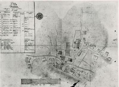 Plan des Dorffs Bauma, aufgenommen, nach dem unglücklichen Brand von 1786