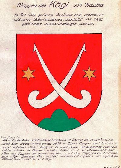 Wappen der Kägi von Bauma