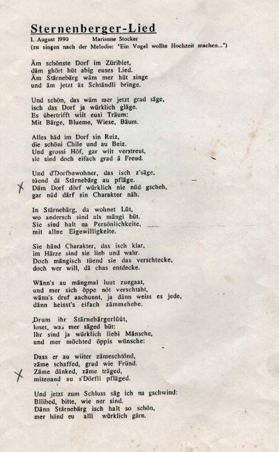 Sternenberger-Lied