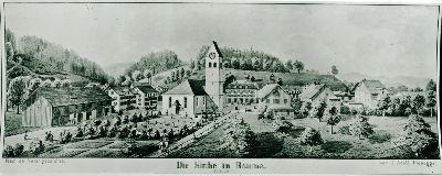 Reformierte Kirche,  Kirchengarten, Friedhof