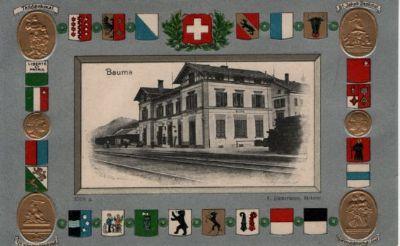 Bauma mit Wappen und Medaillons